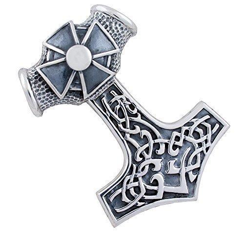 Marteau de Thor, grande pendentif chaîne en argent 925