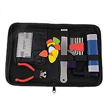 BQLZR Guitar Care Repair Maintenance Tool String Action Ruler PU Leather Bag File Kit
