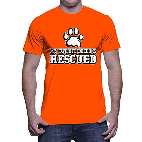 mens-my-favorite-breed-is-rescued-t-shirt-orange-large