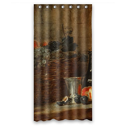 (MaSoyy Polyester Classic Still Life Art Painting Bathroom Curtains Width X Height / 36 X 72 Inches / W H 90 By 180 Cm Best Choice For Wife Gf Family Mother Husband. Eco Friendly - Fabric)