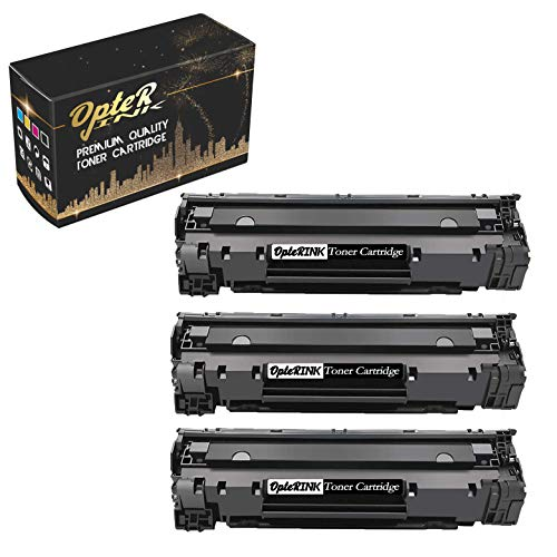 OpterInk Compatible CB536A Printing Toner Cartridge Replacement for HP Laserjet M1319f Multifunction Printer Toner Cartridge (Black, 3 -Pack)