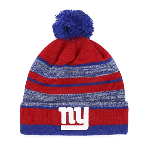 NFL New York Giants Huset OTS Cuff Knit Cap with Pom 222d45c90