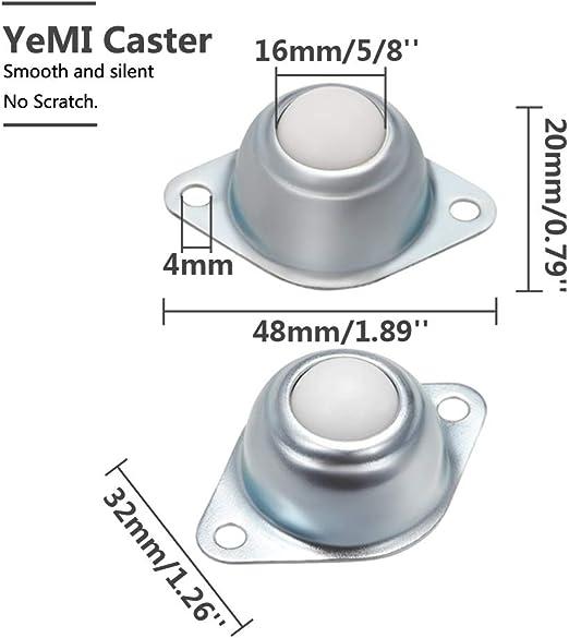 Rodamientos de rodillo de transferencia de bola de 1,6 cm con brida YeMI Nylon bola Transferencia Teniendo Unidad bola