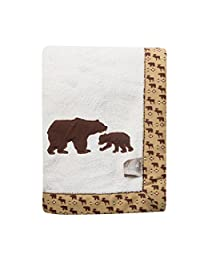 Trend Lab Northwoods Framed Receiving Blanket, Bears Applique