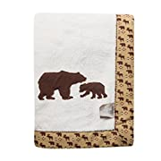 Trend Lab Northwoods Framed Receiving Blanket, Bears Applique