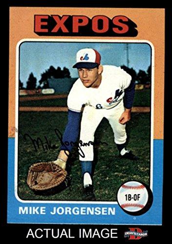 1975 Topps Mini # 286 Mike Jorgensen Montreal Expos (Baseball Card) Dean's Cards 6 - EX/MT Expos