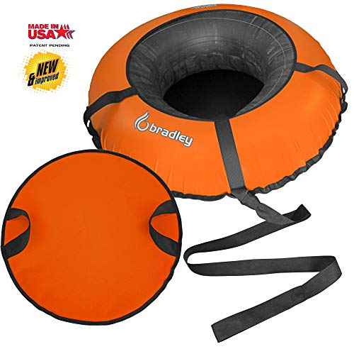 Bradley Heavy Duty Snow Tube with 50' Cover   Rubber Inflatable Sledding Tubes