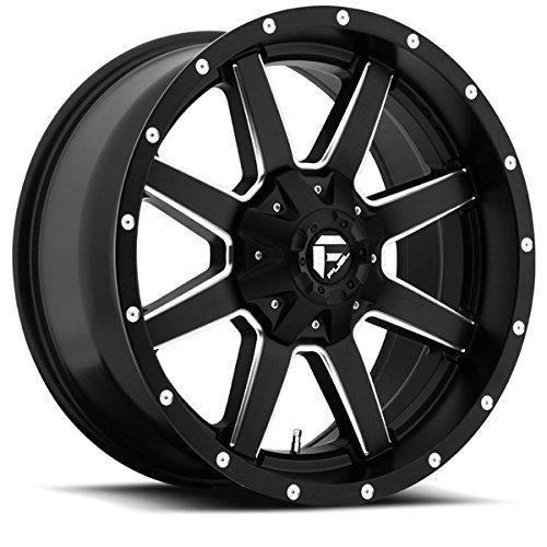 Fuel Maverick 22 Black Wheel / Rim 8x6.5 with a 25mm Offset and a 125.2 Hub Bore. Partnumber D53822958262