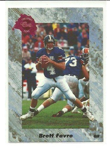 1991 Rookie Card (1991 Classic Brett Favre Rookie Card #129)