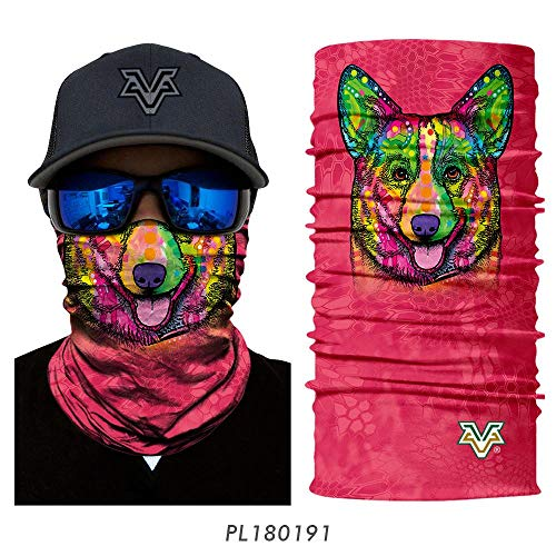 Unlimited-X Scarf Dog - 3D Seamless Scarves Headband Cute pet Neck Bandana face Shield Animal mask ski Magic Bandana Dog cat headwears Headscarf