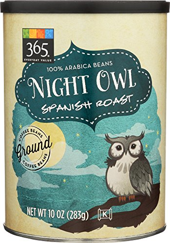 365 Everyday Value, Night Owl Spanish Roast Ground Coffee - Canister, 10 Ounce