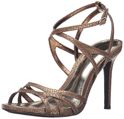 Lauren Ralph Lauren Women's Talulla Dress Sandal, Antique Gold, 5.5 B US (Ralph Lauren Gold Sandals)
