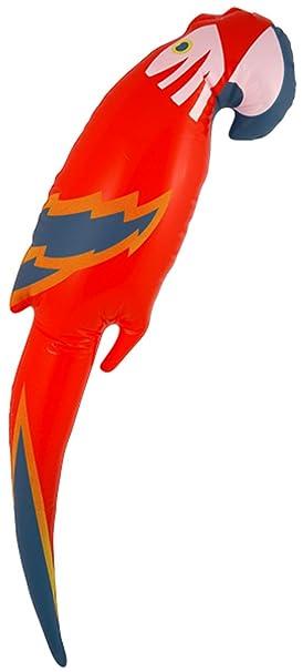 Fashion - Loro Hinchable Cuadrado (48 cm), Diseño Hawaiano: Amazon ...