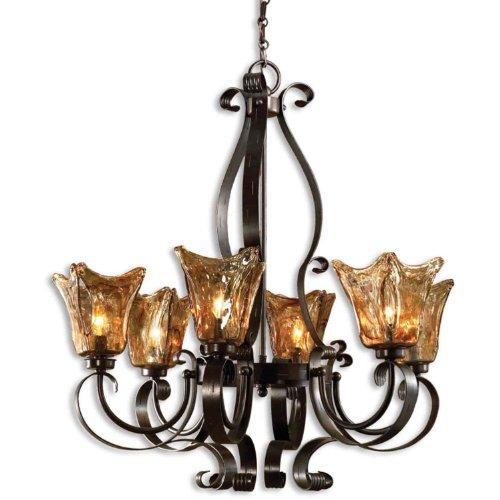 Uttermost 21006 Vetraio 6-Light Chandelier, Oil Rubbed Bronze (Uttermost Vetraio Accent)