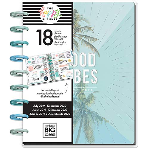 The Happy Planner - Classic 18 Months - Dated (July 2019 - December 2020) - Coastal Vibes