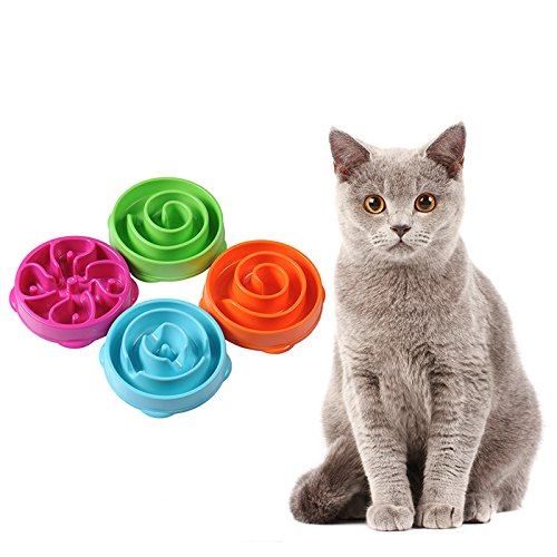 Dimater 20/28cm Big Puzzle Flower Labyrinth Maze Dog Feeder Bowl Slow Anti-choking Hunting Food Container for Puppy Doggie Various Colors Available hot sale