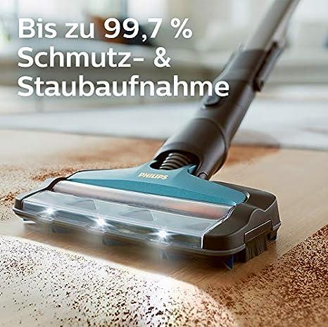 Philips Xc8147 01 Speedpro Max Aqua Kabelloser Staubsauger Mit Wischfunktion 8000 Series Akkusauger 360 Saugdüse 80 Min Akkulaufzeit Kunststoff Blau Amazon De