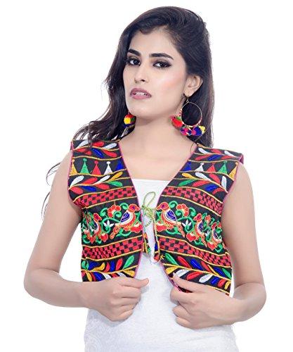 Banjara Women's India Kutchi Short Jacket (Chidiya) Free Size (Fits upto size 40) - India And Women