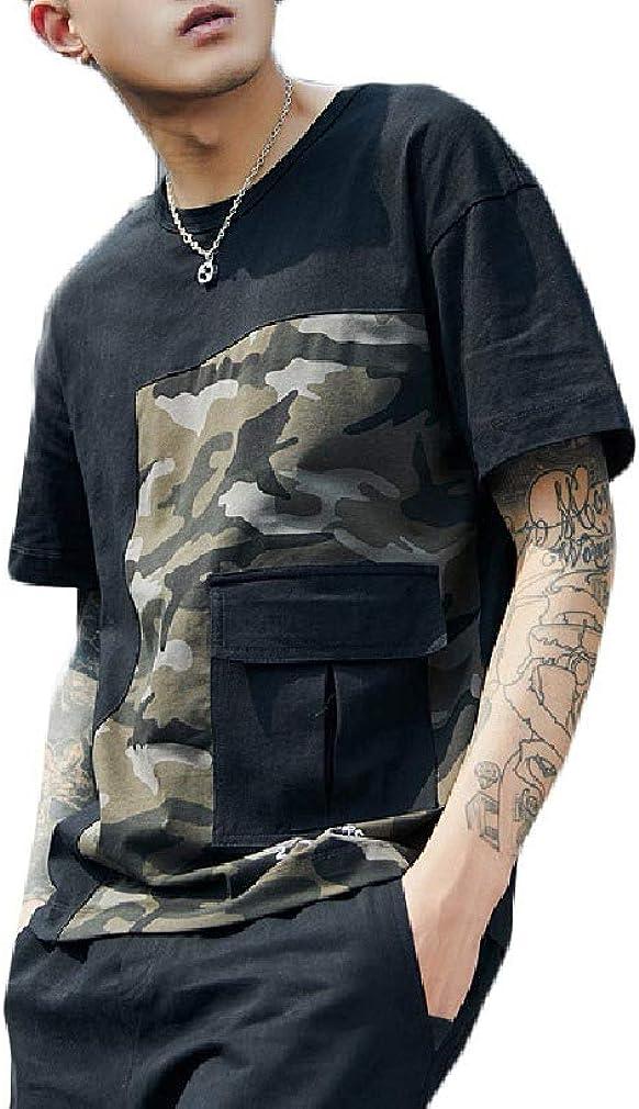 Coolred-Women Casual Tee Short Sleeve Loose Hip-Hop Camo T Shirts