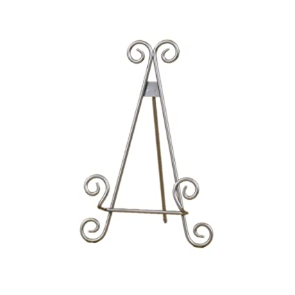 Decorative Curved Metal Plate Stand and Art Holder Easel in Silver Finish - 9\u0026quot;  sc 1 st  Amazon.com & Amazon.com: Decorative Curved Metal Plate Stand and Art Holder Easel ...