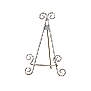 Amazon.com Decorative Curved Metal Plate Stand and Art Holder Easel in Silver Finish - 9\  Home \u0026 Kitchen  sc 1 st  Amazon.com & Amazon.com: Decorative Curved Metal Plate Stand and Art Holder Easel ...