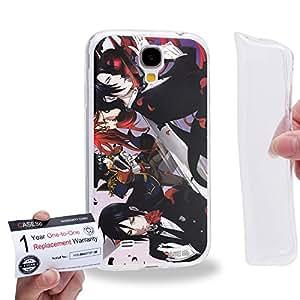 Case88 [Samsung Galaxy S4] Gel TPU Carcasa/Funda & Tarjeta de garantía - Black Butler Ciel Phantomhive Sebastian Michaelis Demon Butler 1519