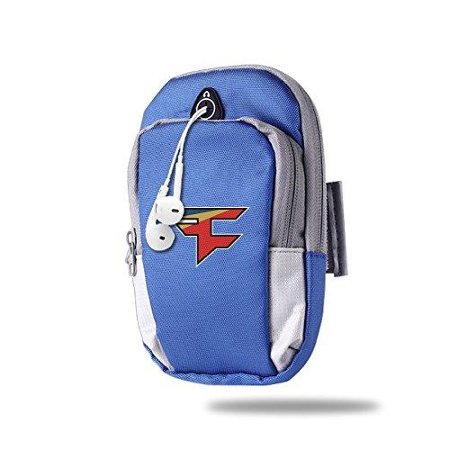 asenra-arm-bag-unisex-faze-clan-team-logo-royalblue-outdoor-sports-portable-arm-bag-arm-pouch-wrist-
