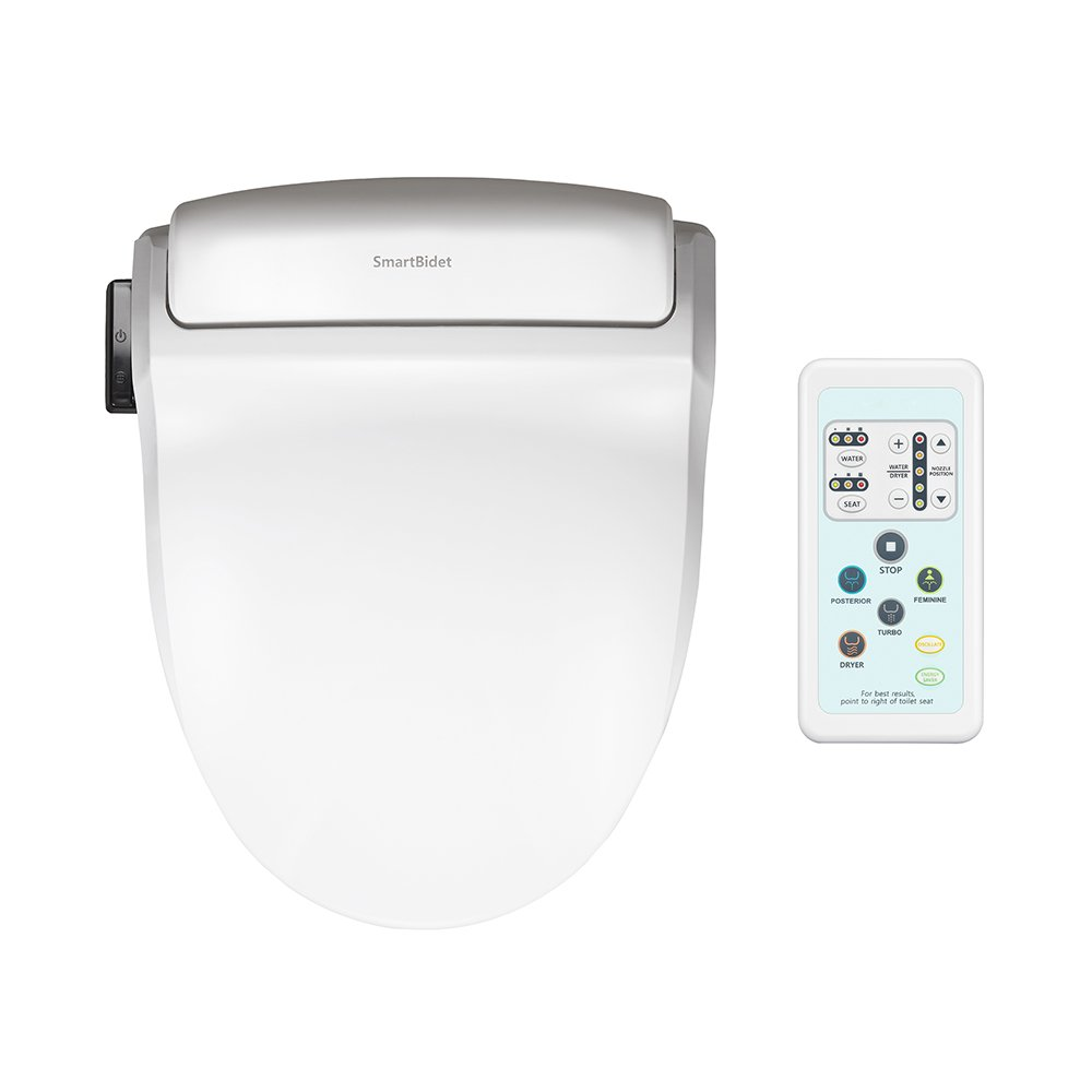 SmartBidet SB-1000 Electric Bidet Seat for Round Toilets with Remote ...