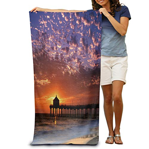 OuLian Yoga Towel Romantic Things to Do in Los Angeles Personalized Microfiber Absorbent Solid Bath Sheet]()