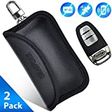 SAMFOLK Mini Faraday Bag for Car Keys [2019 NEW] Car key Signal Blocker Case, (2 PACK) Faraday Cage Keyless Entry Key Fob Pouch, Car RFID Key Security Accessories (Mini)