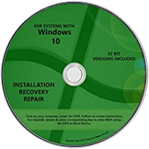 32 bit Windows 10 Pro & Home Install Reinstall Upgrade Restore Repair Recovery x86 All in One Disc WNYPC Utility DVD Part PR4W7W8X86 Disk