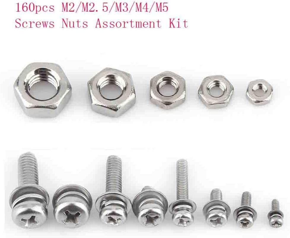 Stainless Steel Screws Nuts for Home Assortment Kit for Repair Industrial Tool