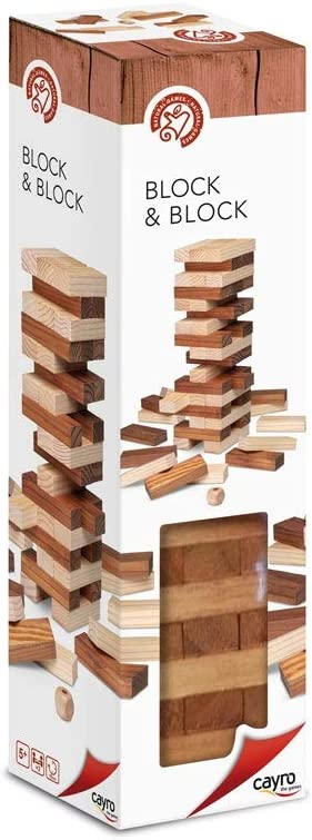 Cayro - Block & Block Bicolor - Juego de observación y lógica - Juego de Mesa - Desarrollo de Habilidades cognitivas e inteligencias múltiples - Juego de Mesa (656)
