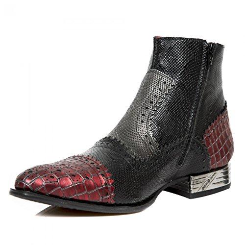 New Rock Boots M.nw133-s15 Punk Rampicante Herren Stiefelette Schwarz