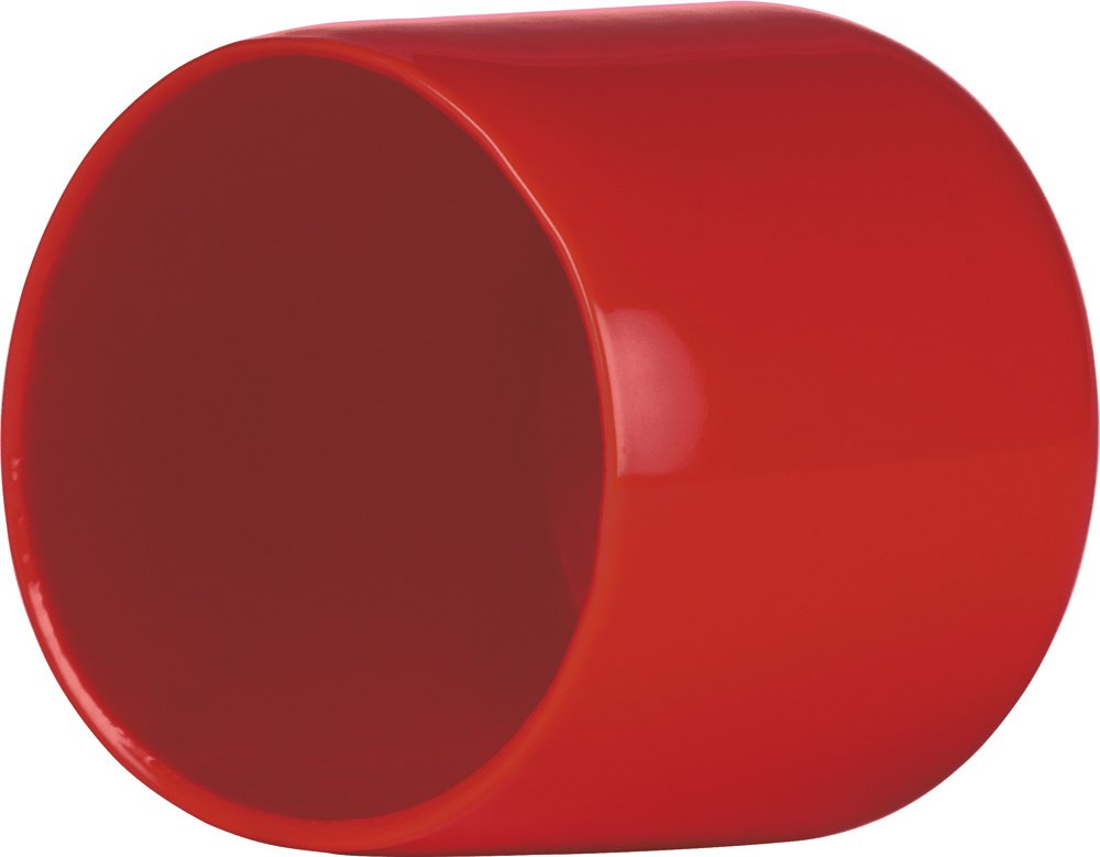 Red Qty 100 Cleartec 0.938in Sealed Bottom Clear Plastic Round Tubes 8.187in Long PETG SBT00144 Qty 100 with RVCC9041R-15 1.000-1 Std Cap