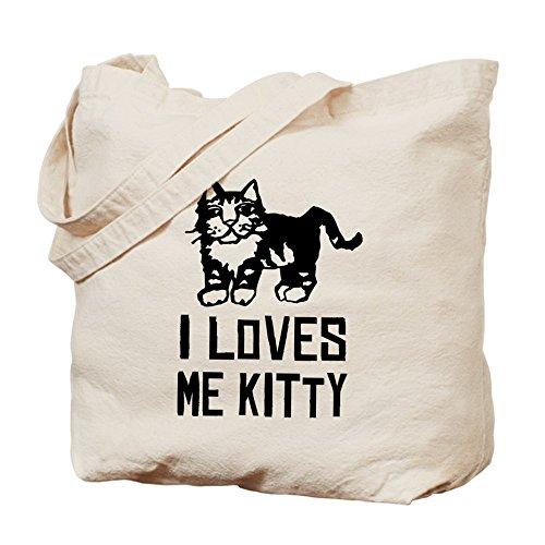 CafePress He Loves Me–Kitty–gato–Gamuza de bolsa de lona bolsa, bolsa de la compra