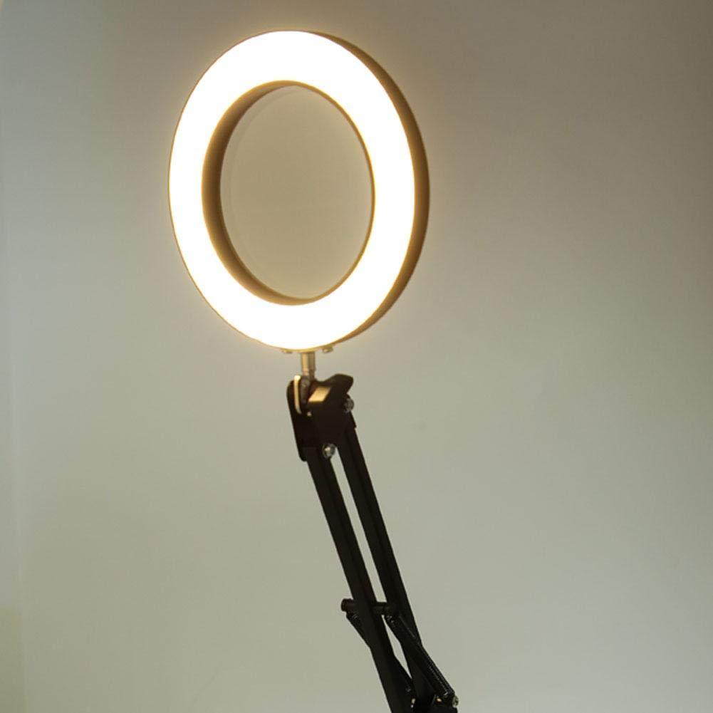pince de bureau r/églable loupe avec lumi/ère lampe loupe USB Loupe lumineuse 5X LED loupe USB 5 couleurs dimmable LED 5X pour lire la r/éparation de soudure