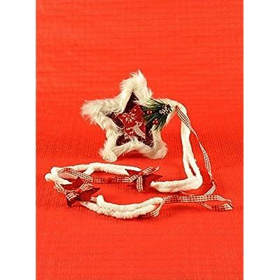 Étoile Tissu et fourrure cm.16x H16