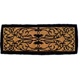 Entryways Iron Gate Border Extra Thick Handmade, Hand-Stenciled, All-Natural Coconut Fiber Coir Doormat 36'' X 72'' X 1.5''
