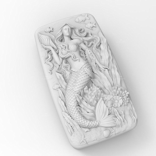 Grainrain Soap Molds Silicone Craft Mermaid Flexible Soap Making Mould DIY Wax Resin Mold