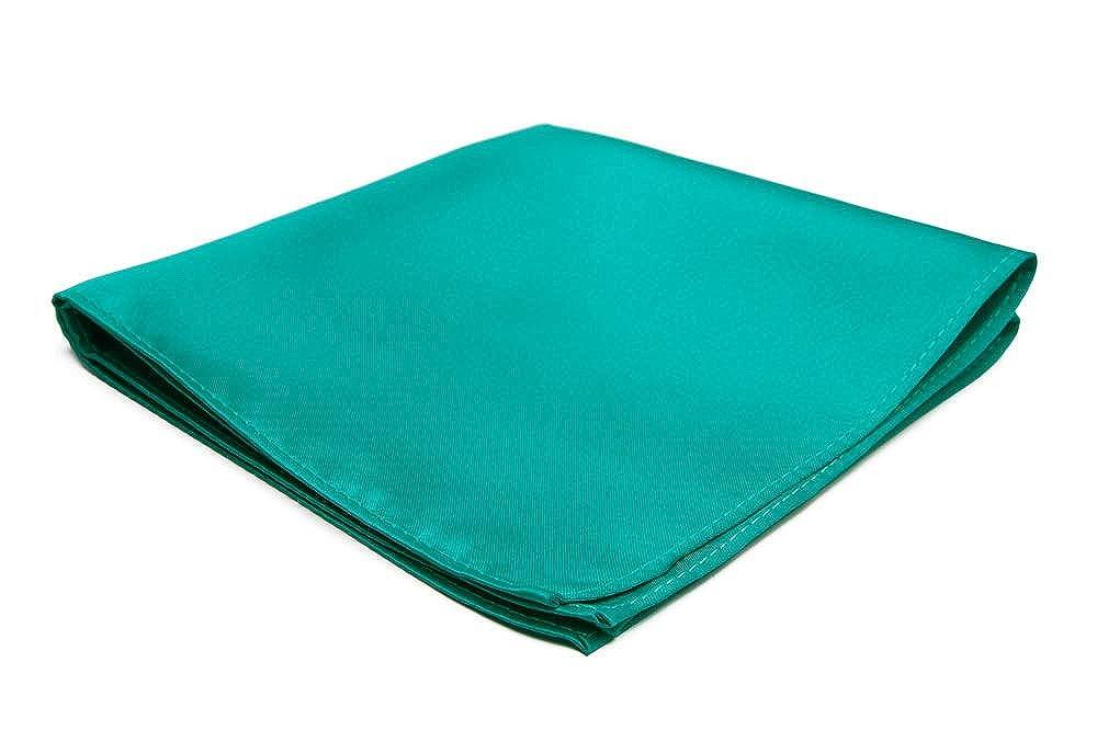 Jacob Alexander Mens Pocket Square Solid Color Handkerchief