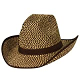 Beistle Halloween Party 2-Tone Western Hat with Brown Trim and Band - 60 Pack