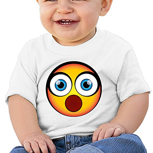 Price comparison product image NUBIA Newborn Baby OMG It's Huge Emoji Short Sleeve T Shirts White 18 Months