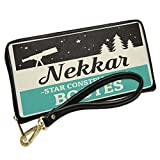 Wallet Clutch Star Constellation Name Bootes - Nekkar with Removable Wristlet Strap Neonblond