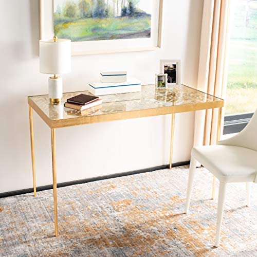 Safavieh Home Collection Leilani Desk, Gold Leaf