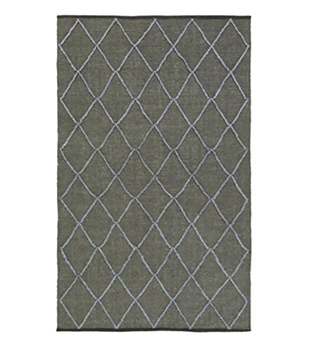 Diva At Home 6' x 9' Nautical Delight Bay Leaf Green and Light Cadet Blue Hand Woven Area Throw Rug ()
