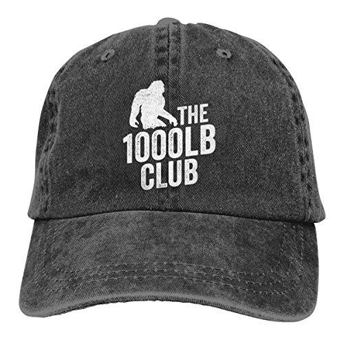Arsmt The 1000LB Club Denim Hat Adjustable Plain Baseball Hat