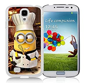 Beautiful Designed Case With Minion Chef White For Samsung Galaxy S4 I9500 i337 M919 i545 r970 l720 Phone Case