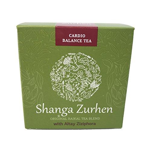 Siberian Health - Shanga Zurhen Herbal Cardio Balance Tea (30 Bags) | Original Lake Baikal Herbal Tea Blend with Altay Ziziphora | Cardiovascular Support Tea | Invigorating Heart Blend Decaf Tea
