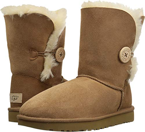 UGG Women's Bailey Button II Winter Boot, Chestnut, 7 B US (Short Sale Ugg)